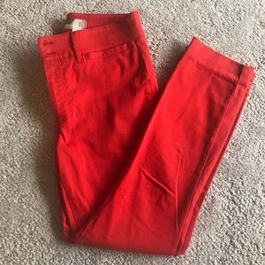 Anthropologie Red Chino Capris